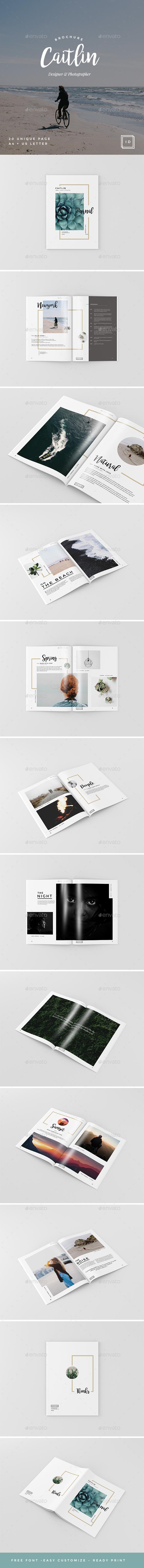 Caitlin - Creative Portfolio, Photography Brochure - Portfolio Brochures
