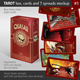 Tarot Box, Cards and 7 Spreads Mockup, Serial nr03. - GraphicRiver Item for Sale