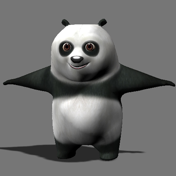 Panda character model - 3DOcean Item for Sale