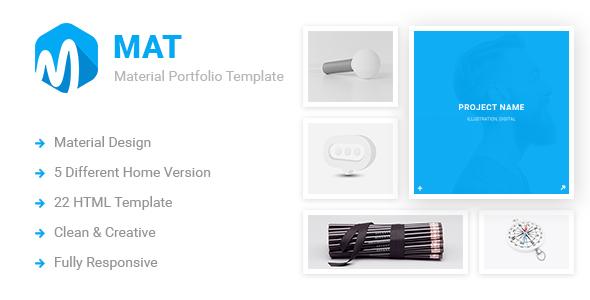 Mat – Material Portfolio Showcase Template
