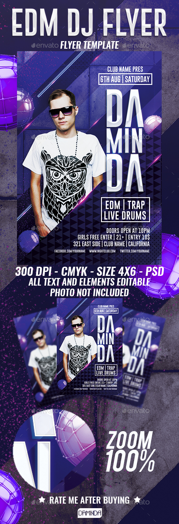 Club Dj Flyer Template by Daminda-Design | GraphicRiver