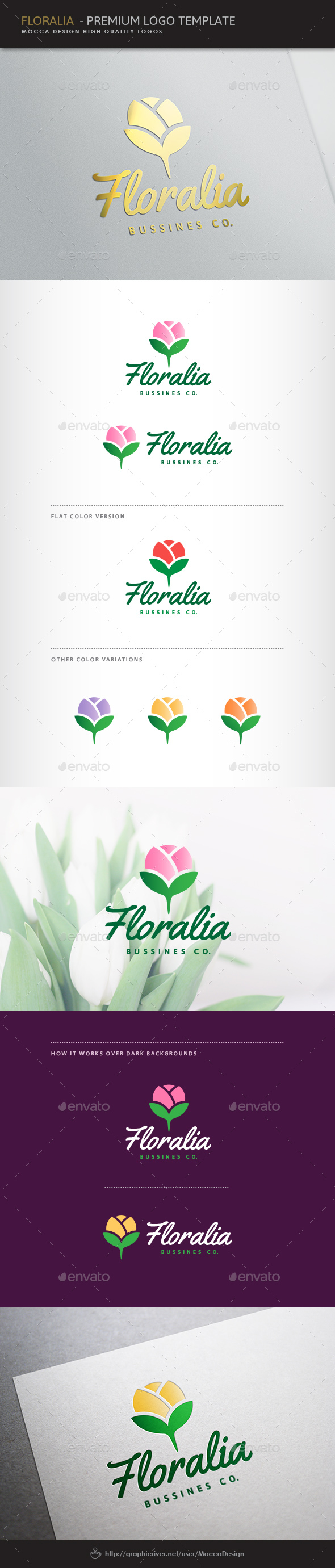 Floralia Logo - Nature Logo Templates