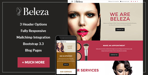 Beleza - Beauty One Page HTML5 - Health & Beauty Retail