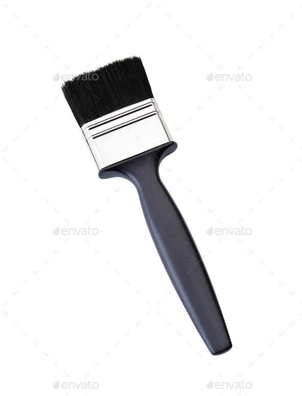 Paint brush isolated on a white - Stock Photo - Images
