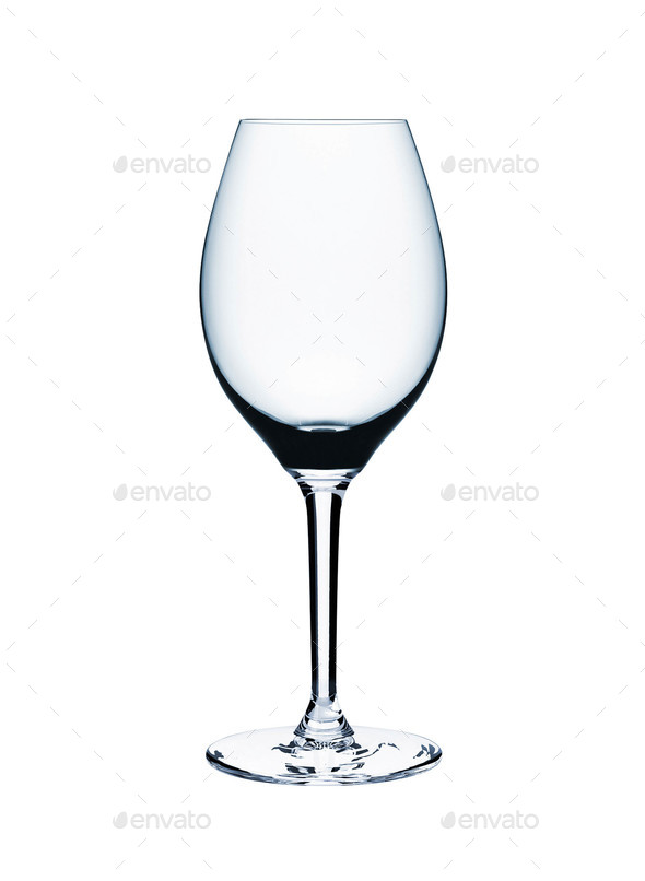 Empty wine glass isolated - Stock Photo - Images