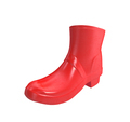 Red rubber boots for kids isolated on white