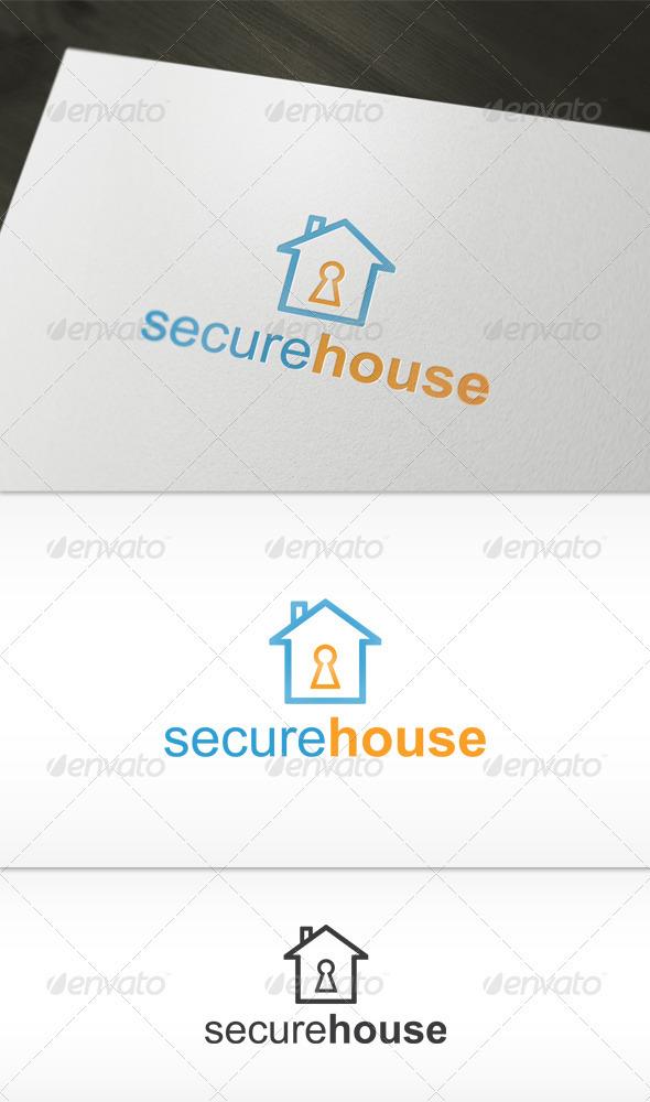 Secure House Logo - Buildings Logo Templates