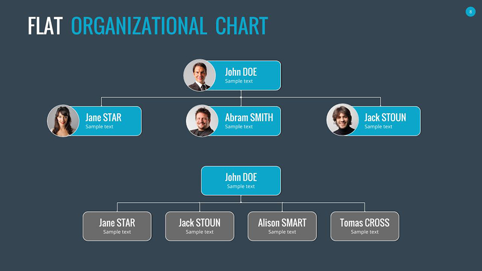Organizational Charts Google Slides By Sananik | Graphicriver