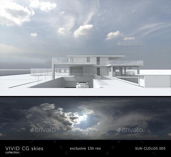 Vivid CG Skies Sun Clouds 005 (15k resolution) - 3DOcean Item for Sale