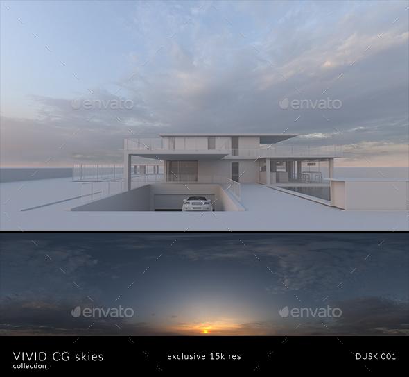 Vivid CG Skies Dusk 001 (15k resolution) - 3DOcean Item for Sale