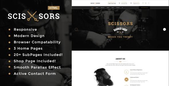 Scissors Salon & Hair Styling HTML Template