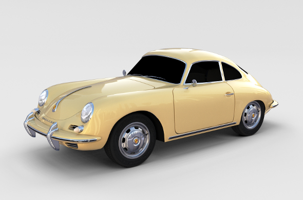 Porsche 356 Coupe rev - 3DOcean Item for Sale