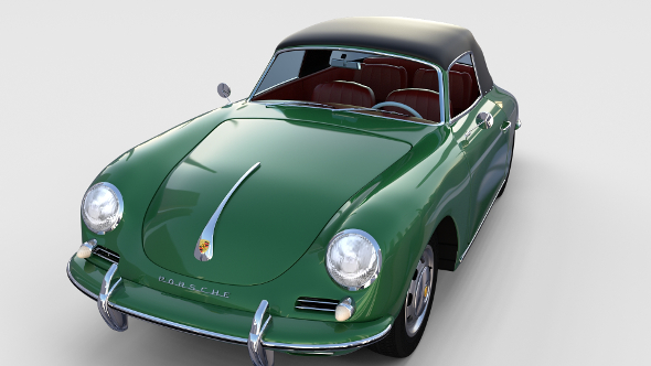 Porsche 356 Cabriolet rev - 3DOcean Item for Sale