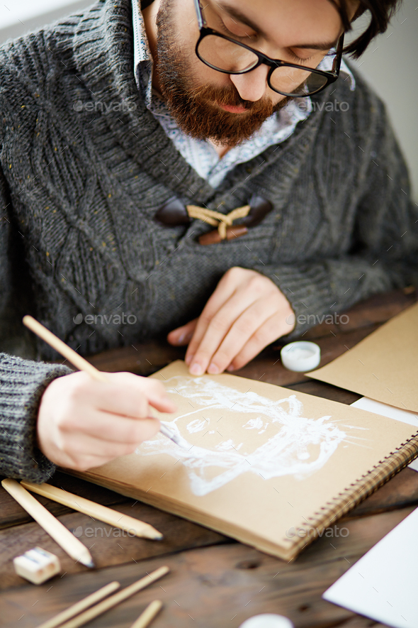 Drawing at leisure - Stock Photo - Images