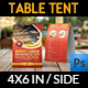 Restaurant Table Tent Template Vol.13 - GraphicRiver Item for Sale