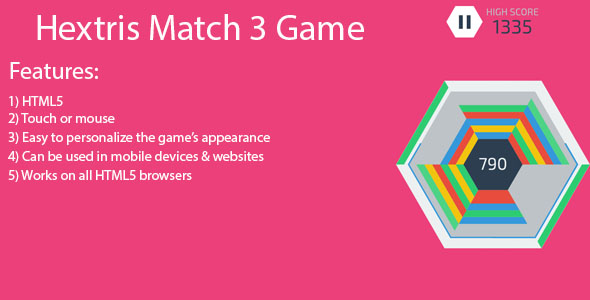 Hextris match 3 HTML 5 game - CodeCanyon Item for Sale