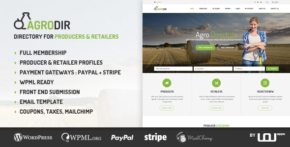 Agrodir - Directory for Producers & Retailers - Directory & Listings Corporate