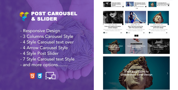 Jellywp post carousel slider Visual Composer Addons - CodeCanyon Item for Sale