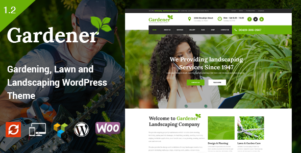 Gardener - Gardening, Lawn and Landscaping WordPress Theme - Business Corporate