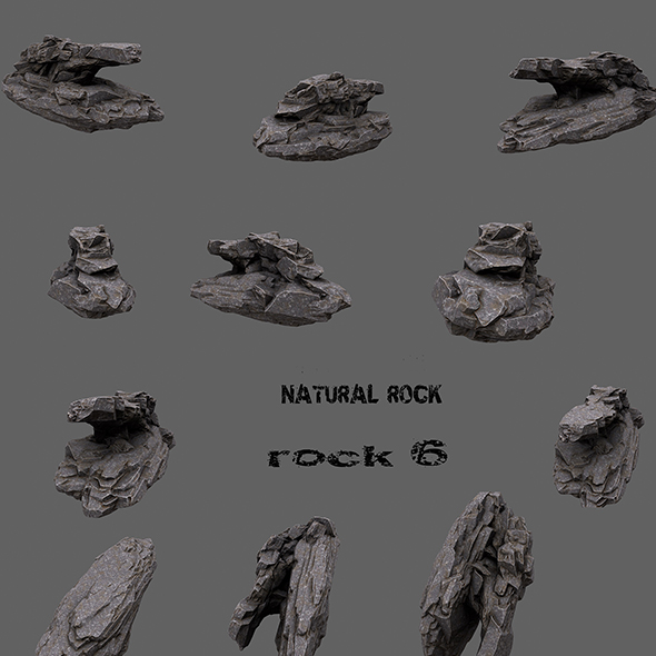 mount rock 6 - 3DOcean Item for Sale