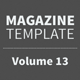 Magazine Template - Volume 13 - GraphicRiver Item for Sale