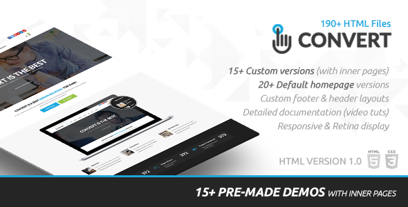 Convert | HTML Responsive Multi-Purpose Site Template - Corporate Site Templates