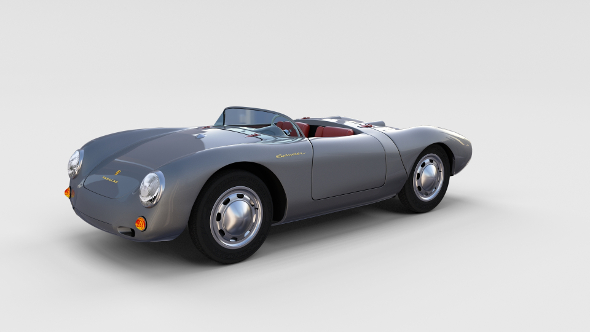 Porsche 550 Spyder gray rev - 3DOcean Item for Sale