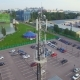 Aerial view of a telecommunications cell tower in the city - VideoHive Item for Sale