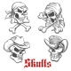 Sketched Pirate, Cowboy And Sheriff - GraphicRiver Item for Sale