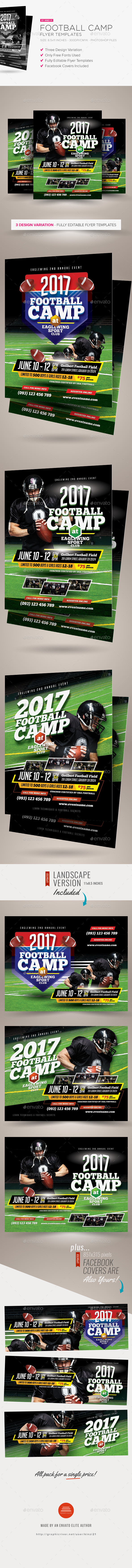 Football Camp Flyer Templates - Sports Events