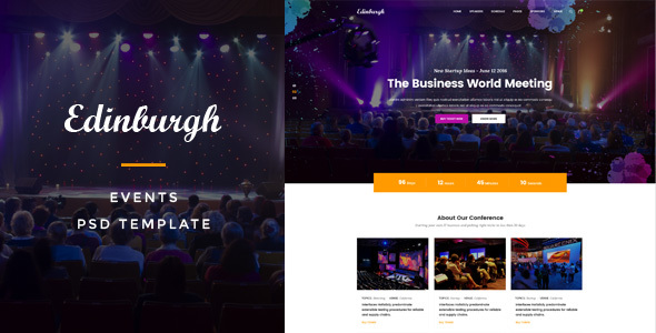 Edinburgh : Events PSD Template - Events Entertainment