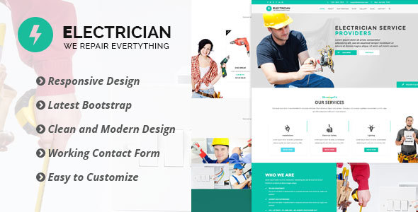 Electrician – Bootstrap Template