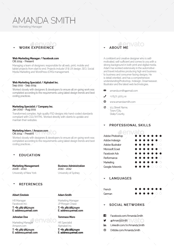 simple resume cv volume 5 by paolo6180 graphicriver
