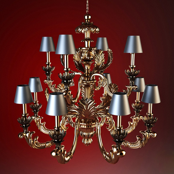 High quality model of classic chandelier Chelini - 3DOcean Item for Sale