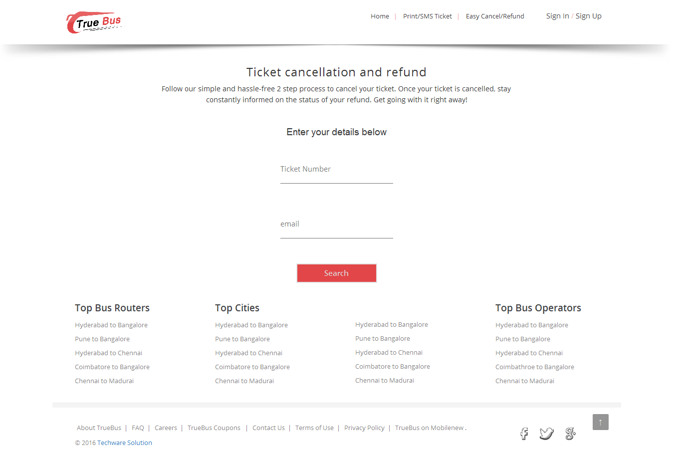 Online Bus Ticket Booking And Reservation System True Bus By