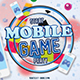 Mobile Game Party Flyer Template - GraphicRiver Item for Sale