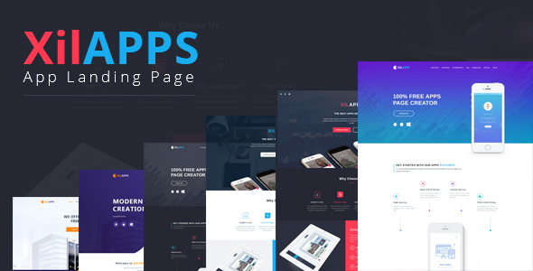 XILAPPS – PSD App Landing Page Template