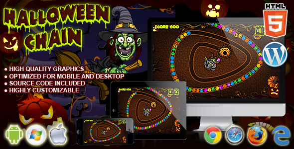 Download Sourcode              Halloween Chain - HTML5 Game nulled version