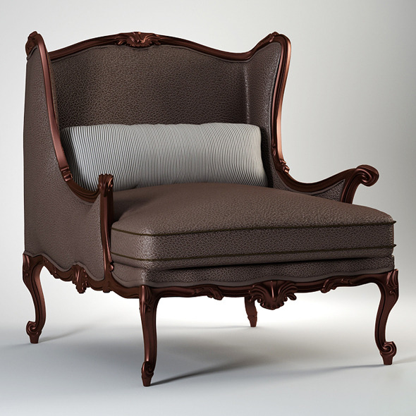 High quality model of classic chair Chelini - 3DOcean Item for Sale