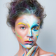 Painted beautiful woman face, artistic make up - PhotoDune Item for Sale