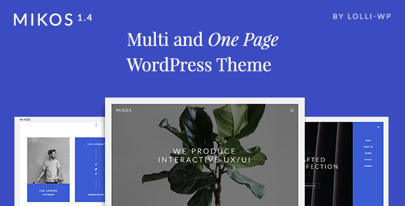 Mikos – Multi and One Page WordPress Theme
