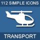 112 Transport & Logistic icons - GraphicRiver Item for Sale