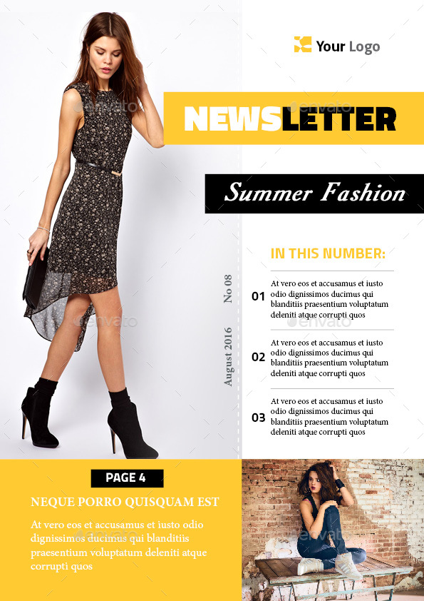 Fashion Newsletter Template By Magic_reflection