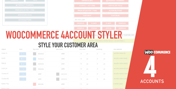Woocommerce 4account - MyAccount Customiser - CodeCanyon Item for Sale