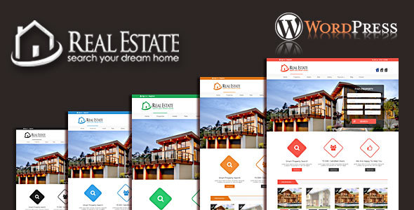 Real Estate & Blog  WordPress Theme
