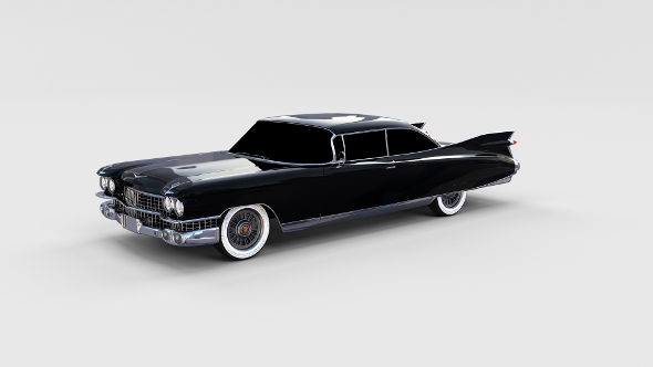 1959 Cadillac Eldorado 62 Series Coupe rev - 3DOcean Item for Sale