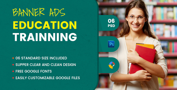 Education Banner HTML5 - GWD - CodeCanyon Item for Sale
