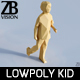Lowpoly Kid 011 - 3DOcean Item for Sale