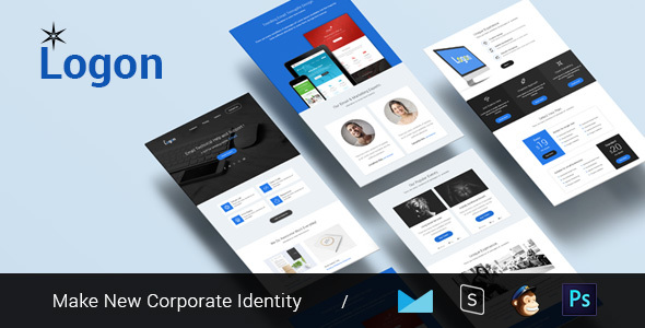 Logon – Multipurpose & Responsive Email Template + Builder
