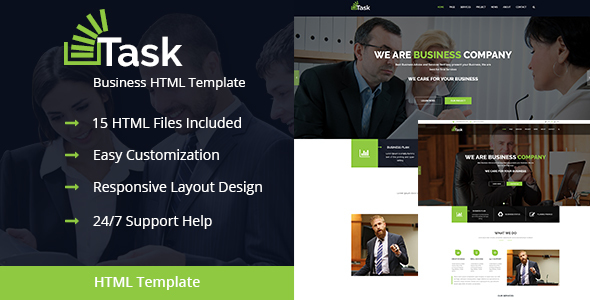 Task – Responsive HTML Business/Corporate Template